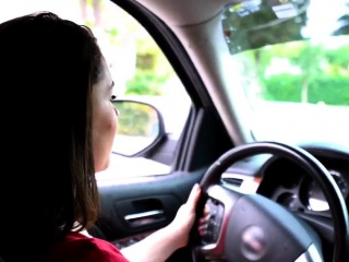 Amazing Russian Teen Amateur Driving Lessons