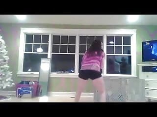 Three Girls Dancing And Mooning The Camera