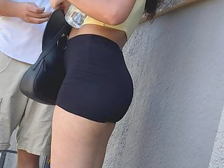 Smoking Hot Assed Teenager Forth Legging Shorts.